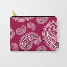 Burgundy paisleys Carry-All Pouch