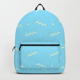 Sky blue yellow geometrical doodle zentangle pattern Backpack