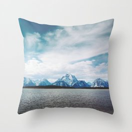 Dreaming of Mountains and Sky Throw Pillow