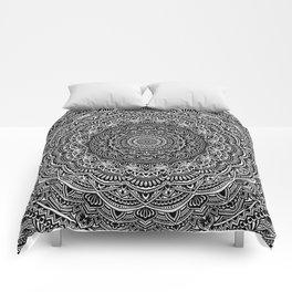 Zen Black and white mandala Sophisticated ornament Comforters