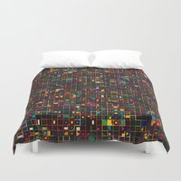led zeppelin Duvet Covers featuring LED 3 by Simon C Page