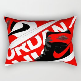 Chicago Red AJ1 Rectangular Pillow