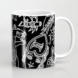 Black print Coffee Mug
