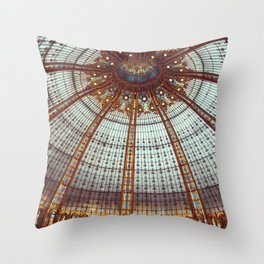 Neo-byzantine stained glass dome - Galleries of Paris - Fine Art Travel Photography Throw Pillow