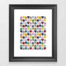 Diamond Hearts Repeat Framed Art Print