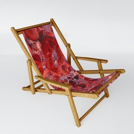 Marble Ruby Blood Red Agate Sling Chair