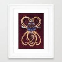 "sailormoon Framed Art Prints featuring Steampunk Sailormoon by Barbora ""Mad Alice"" Urbankova"