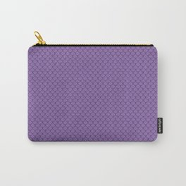 Amethyst Purple Scales Pattern Design Carry-All Pouch