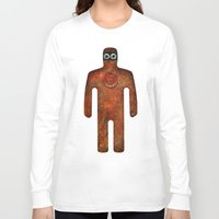 super hero Long Sleeve T-shirts featuring Rust Man - Super Hero by Paul Stickland for StrangeStore