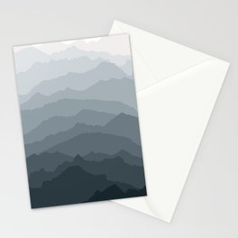 Silver Dew Mountains Stationery Cards