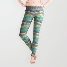 Bin Chicken You Out - Teal & Pink Leggings