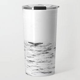 WHITE - SEA - WAVES - WATER - WHALE - NATURE - ANIMAL - PHOTOGRAPHY Travel Mug