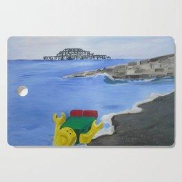 Lego Beach Acrylics Impressionist Fine Art Cutting Board