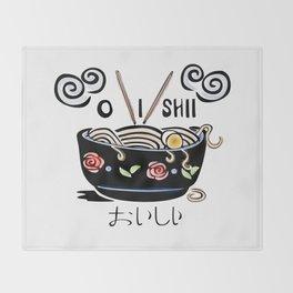 OISHII Noodle Bowl Throw Blanket