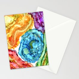 Agate Slices and Geodes Stationery Cards