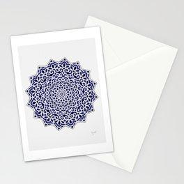 16 Fold Mandala in Blue Stationery Cards