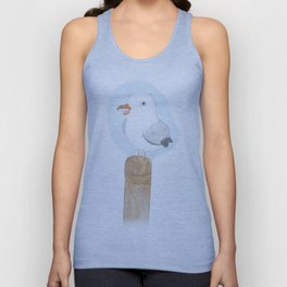 Baby Blep Seagull Unisex Tank Top
