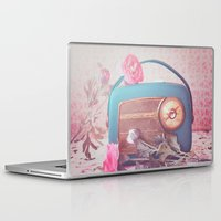 radio Laptop & iPad Skins featuring Vintage Radio. by Julia Dávila-Lampe