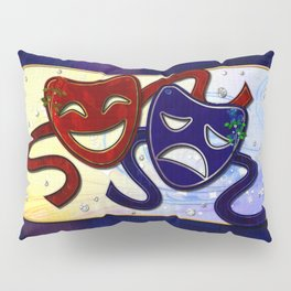 American Drama Comedy & Tragedy Pillow Sham