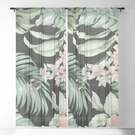Jungle blush Sheer Curtain