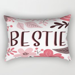 BESTIE - Floral Phrases Rectangular Pillow