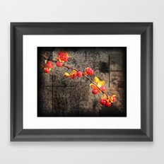 Fields Of Red Berries Framed Art Print