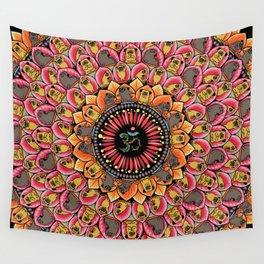 Pug Yoga Mandala Wall Tapestry