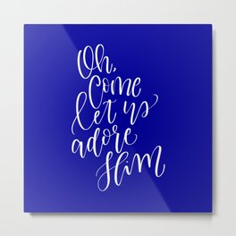 Oh Come Let Us Adore Him Metal Print