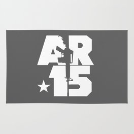 AR-15 (Gunmetal/White) Rug