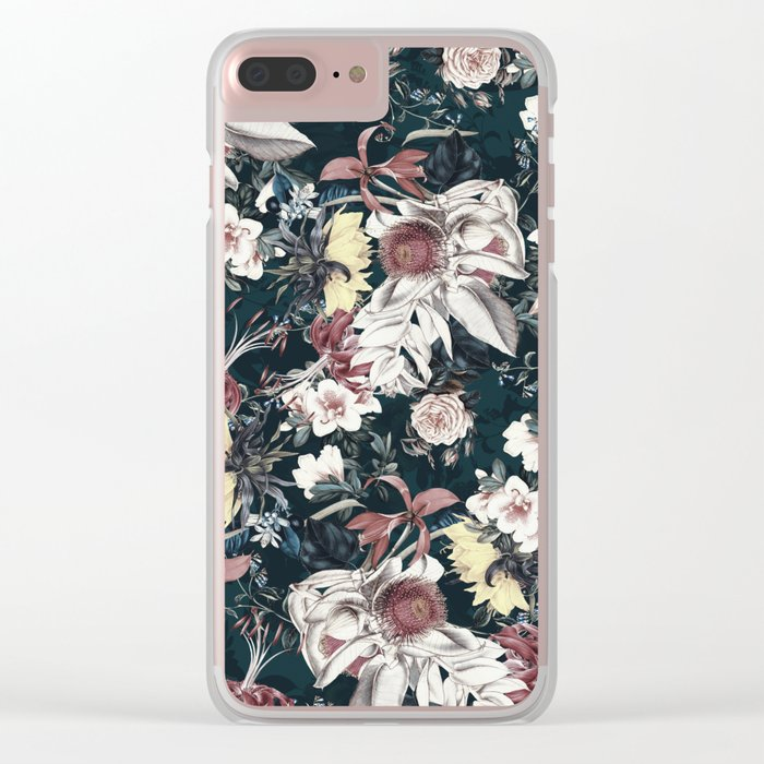 Flowers of Darkness Clear iPhone Case
