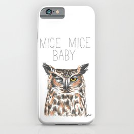 Mice Mice Baby (Great Horned Owl) iPhone Case