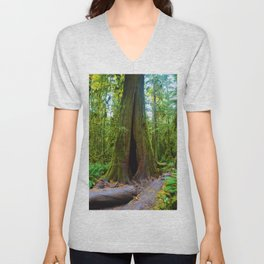 Cathedral Grove on Vancouver Island, BC Unisex V-Neck