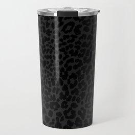 Goth Black Leopard Travel Mug