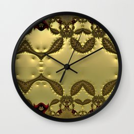 Silky Red and Gold Frieze Wall Clock