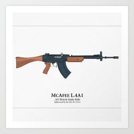 Fantasy Battle Rifle Art Print