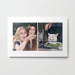 Woman Yelling at Cat Meme-3 Metal Print