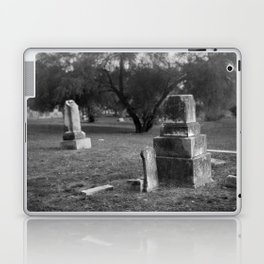 Headstones In City Cemetery Laptop & iPad Skin