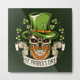 leprechaun hat st patricks day Metal Print