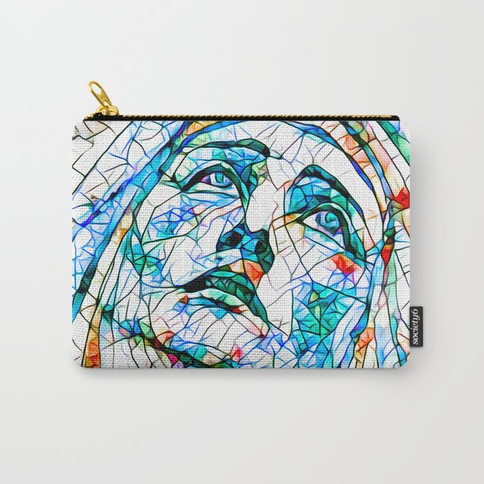 Glass stain mosaic 8 - Madonna, by Brian Vegas Carry-All Pouch