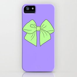 Spring Green Vector Bow iPhone Case