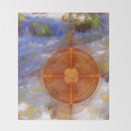 Portal to the wonderful water world Throw Blanket