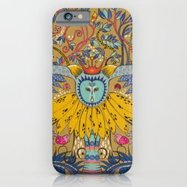 Owl in gold kingdom iPhone Case