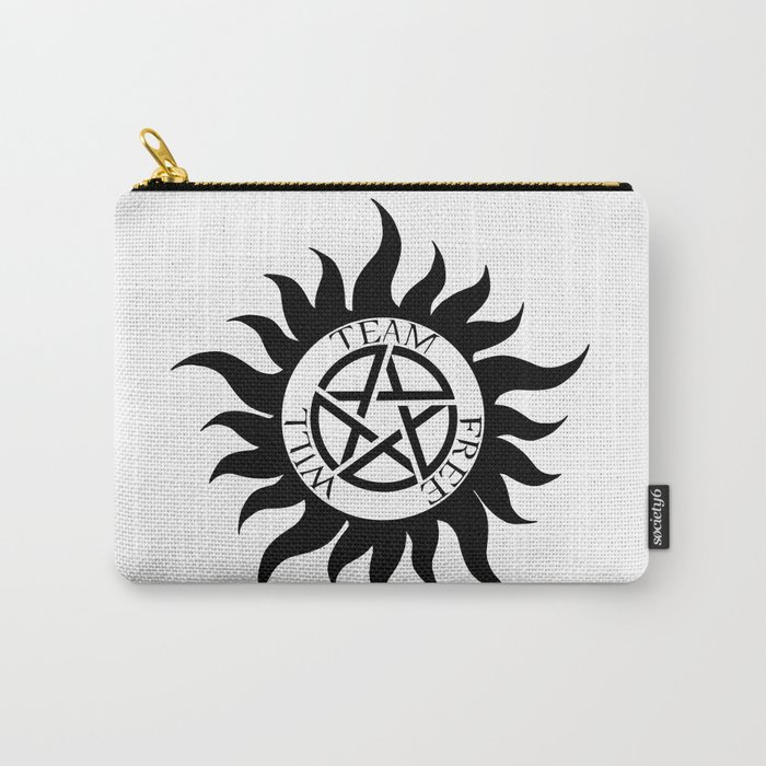 Team Free Will Anti Possession Symbol Supernatural Carry All Pouch