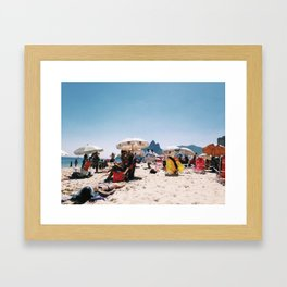 Ipanema beach in the middle of summer Framed Art Print