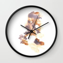 Soft Texture Watercolor | [Grief] Drained Wall Clock