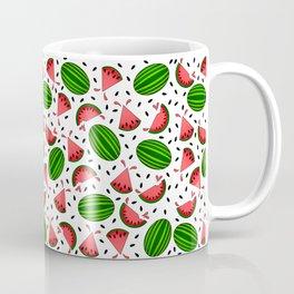Juicy Watermelon Pattern On White Background Coffee Mug