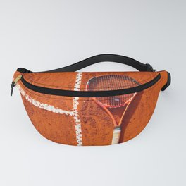 Tennis Court Background Fanny Pack