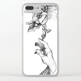 Touched by nature Clear iPhone Case