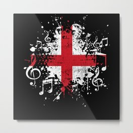 England Music Flag Metal Print