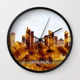 Johor Bahru Malaysia Skyline Wall Clock